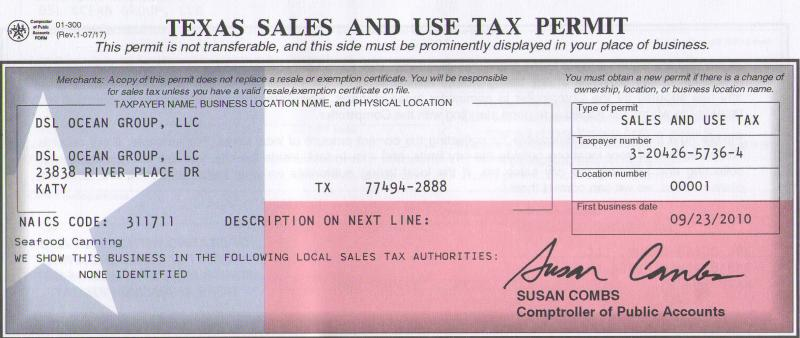 Business Tax: Business Tax Id Texas